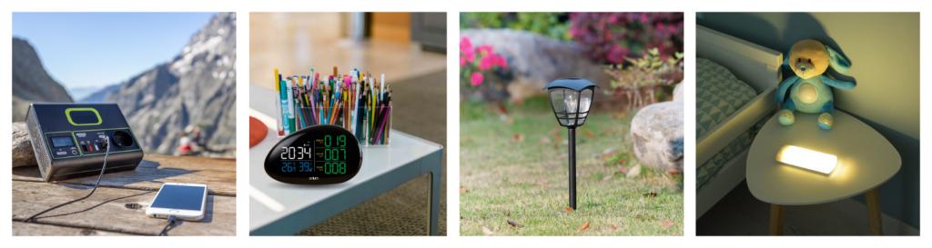 quatre familles de produits orium : orium mesure, orium confort, orium énergie, orium jardin